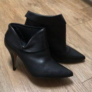 Aldo Black Leather Booties 7